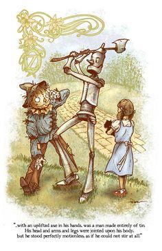 David Petersen – The Wonderful Wizard of Oz Illustrations, Illustration Art, Swan Lake Costumes, Wizard Of Oz Quotes, Anime Store, Lake Photography, Lake Art, Land Of Oz, Tin Man