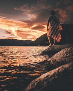 Lukeandrew_taylor All American Girl, Red White Blue, Baby Blue, Celestial, Sunset, Instagram Posts, Outdoor, Outdoors, Sunsets