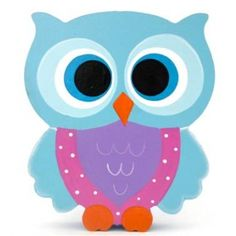 Tree Centerpieces for Baby Shower Owl Theme | ... Block Freestanding feathered owl bright eyes - aqua, purple & pink