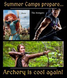Brave, the Avengers, Hunger Games