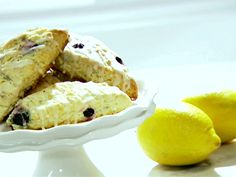 Blueberry Scones with Lemon Glaze from FoodNetwork.com