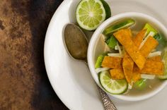 sopa de lima (Mexican lime and chicken soup)