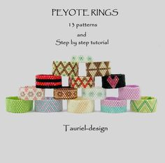 Peyote rings 13 patterns. $6.00, via Etsy.