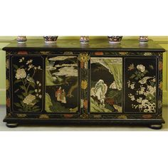 A Chinese coromandel lacquer chest  early 18th century  SOLD. 16,800 GBP