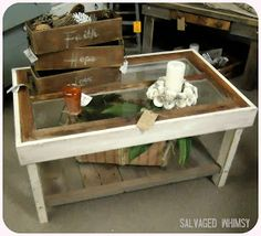 SALVAGED WHIMSY: Window Table