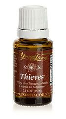 50 Ways to Use Thieves Essential Oil Young Living Thieves essential oil blend was created based on the historical account of four thieves in France who protected themselves from the Black Plague with cloves, rosemary, and other aromatics while robbing victims of the killer disease. When captured, they were offered a lighter sentence in exchange for their secret recipe. Thieves has been university tested and found to be highly effective against airborne bacteria.