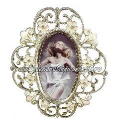 Mini rama foto metalica Glory Heart Ring, Brooch, Mini, Jewelry, Jewlery, Bijoux, Brooches, Schmuck, Heart Rings