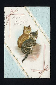 New Year's card - vintage.