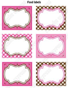 cowgirl birthday party   INSTANT DOWNLOAD diy Cowgirl Birthday Party PRINTABLE Food Labels pink ...