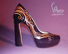 b25f845a13326 7 Best  Pumpkins -  hand  painted  shoes images