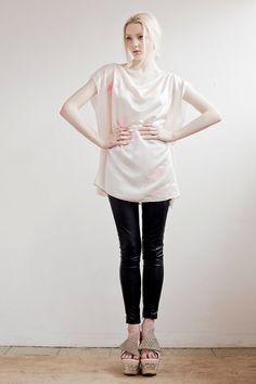 Silk Swan Tee in Light Pink by SLCSLC on Etsy, £59.00