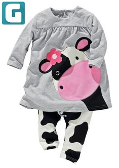 Cheap baby girl clothes, Buy Quality girl baby clothes directly from China baby girl Suppliers: Hot sale spring autumn baby girl clothes casual long-sleeved T-shirt+Pants suit Tracksuit the cow suit of the girls Baby Girl Winter, Cute Baby Girl, Baby Girls, Baby Girl Newborn, Toddler Girl, Little Girls, Kids Girls, Autumn Girl, Infant Girls