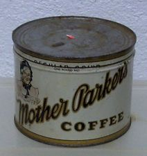 Rare Vintage MOTHER PARKERS coffee tin can store display