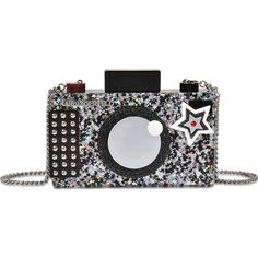 Karl Lagerfeld Karl Photographer Clutch (2.194.995 IDR) ❤ liked on Polyvore featuring bags, handbags, clutches, black, karl lagerfeld, karl lagerfeld purse and karl lagerfeld handbags