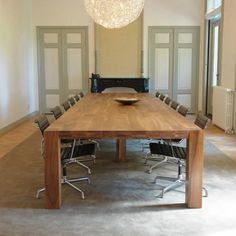 wooden conference table  HINDRIK LANGSHOUT  Pilat