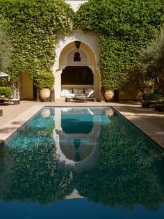 size: Photographic Print: Swimming pool of Villa des Orangers hotel, Marrakesh, Morocco : Fine Art Small Backyard Pools, Backyard Pool Landscaping, Backyard Pool Designs, Modern Landscaping, Outdoor Pool, Landscaping Design, Backyard Planters, Courtyard Pool, Landscaping Jobs