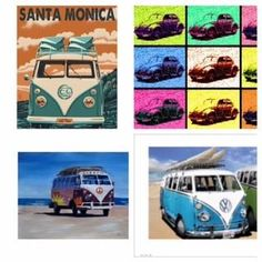 Metal Wall Sign – VW Camper Neon Quad Design & appeal: An official licensed Volkswagen product, created in-house by Red Hot Lemon. The VW Neon pop art is a
