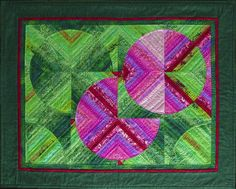 Jersey Spring Quilt pink on green