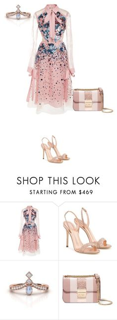 """Untitled #256"" by shinrashuya on Polyvore featuring Elie Saab, Giuseppe Zanotti and MICHAEL Michael Kors"