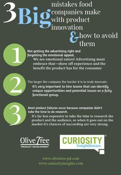 3 #BIG mistakes food companies make with product innovation & how to avoid them