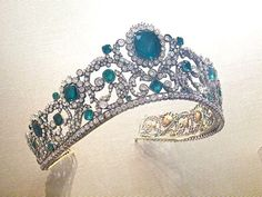 """The tiara (part of the French Crown Jewels) once belonged to the Duchesse of Angouleme, Marie Therese. It was also featured as the cover tiara on the book, """"Tiara, a History of Splendour""""."""