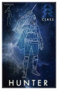 pixalry: Destiny Constellation Poster Series - Created by David Bennett Available for sale at his Etsy Shop.