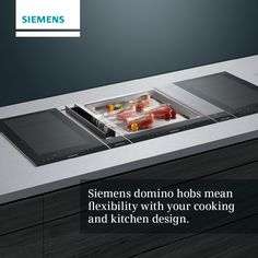 Now you can create a completely bespoke hob area with Siemens domino hobs. Combine gas, induction and teppan yaki to really create a show piece in your new kitchen. Visit our showroom to see how. #SiemensAppliances