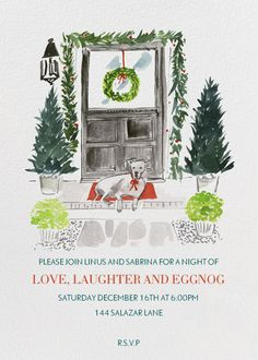 """Front Door"" Invitation, by Virginia Johnson, Paperless Post"