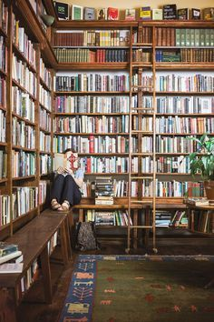 Portland's Best Bookstores that Aren't Powell's Find your personal page paradise with our guide to the city's undertheradar literary hideaways—plus a few record shops to further your analog bliss is part of Home library - Library Room, Dream Library, Beautiful Library, Home Libraries, Book Storage, Book Shelves, Book Aesthetic, Hotel Lobby, Book Nooks