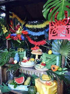Colorful Rio Olympics summer party! See more party planning ideas at CatchMyParty.com!