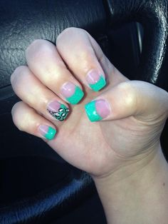 Green tips with leopard