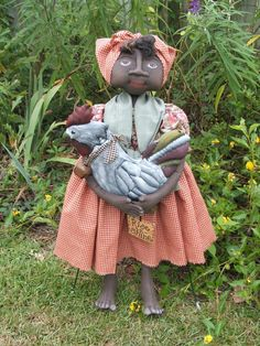 Art Doll Primitive Mammy Black Nanny with by Raggedyrhondas