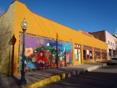 Silver cith new mexico | ... , another colorful mural on a store-front in Silver City, New Mexico