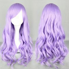 Free Shipping Fashion 70cm Long Wave Classical Purple Synthetic Lolita Wig(China (Mainland))