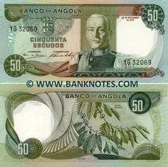 ANGOLA 50 ESCUDOS 1972 P 100 AU-UNC