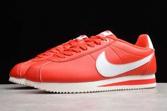 """2019 Stranger Things x Cortez """"OG Collection"""" Classic Leather, Red Leather, Nike Shoes, Sneakers Nike, Nike Classic Cortez, White Paneling, Nike Cortez, Star Print, Shoes Women"""