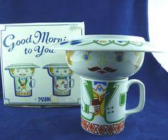 Seymour Mann Good Morning To You 3 Piece Breakfast Set IOB Vintage 1977
