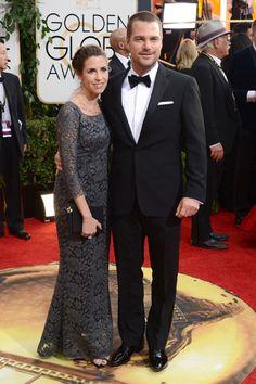 Chris O'Donnell y Caroline Fentress