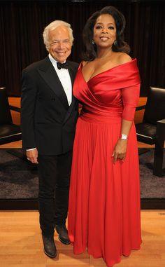 Ralph Lauren & Oprah Winfrey from Ralph Lauren's Most Memorable Red Carpet Gowns | E! Online