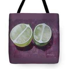 Lime Fine Art Tote Bag Lime Still Life Lime by annarobertsart