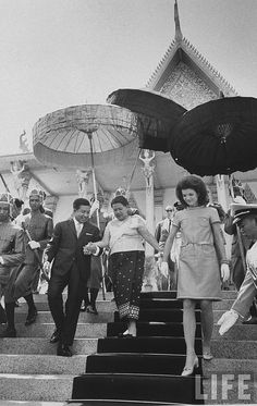 November 1967 – With a radiance now as famous in Phnom Penh, Cambodia as it is in Paris, Jacqueline Kennedy, America's unofficial roving am...