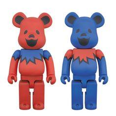 Grateful Dead Dancing Bears 400% Bearbrick ( feb2015) #bearbrick #medicom #fatsuma #fatsumatoys #designertoy #gratefuldead #dancingbears