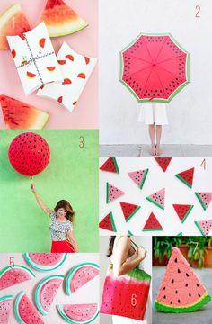 20 Watermelon DIY Ideas