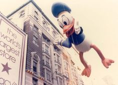 Get in the holiday spirit with these historical and vintage photos of the Macy's Thanksgiving Parade from the to the present Disney Thanksgiving, Macys Thanksgiving Parade, Disney Balloons, Balloon Flights, Vintage Disney, Vintage Photos, Donald Duck, History, Parade Floats