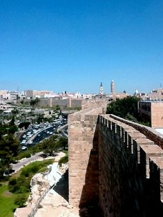 Jerusalem . old and new...you can walk along the ramparts around the perimeter.