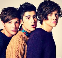 Louis, Zayn and Harry