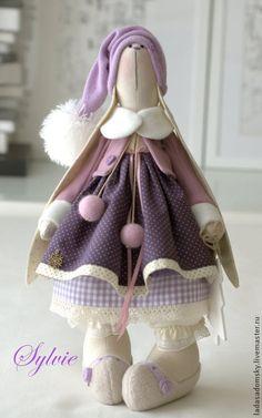 Игрушки животные, ручной работы. Ярмарка Мастеров - ручная работа Зайка Силвия - текстильная игрушка 38 см. Handmade.