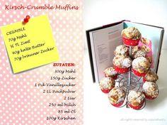 cherry-crumble muffin