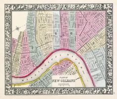 mitchell street map of new orleans.