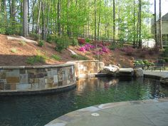Stone Retaining Walls #stone_retaining_walls                                                                                                                        Stone Pool Retaining Walls             by        Stonehenge Hardscape Atlanta      on ..